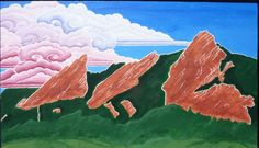 #Flatirons Afternoon by #WindhorseWhimsical on #Etsy #etsyclimbers #Colorado #landscape  Crafted by Climbers.