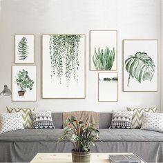 Tropical Plants Leaves Canvas Vintage Poster Wall Art Prints Modern Home Decor Home & Garden, Home Décor, Posters & Prints eBay!