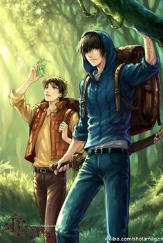 hot anime guys in forest (are they in a anime or manga? Hot Anime Guys, Cute Anime Boy, I Love Anime, Art Manga, Manga Boy, Anime Art, Manga Drawing, Bishounen, Anime People