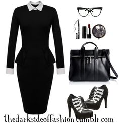 Top Gothic Fashion Tips To Keep You In Style. As trends change, and you age, be willing to alter your style so that you can always look your best. Consistently using good gothic fashion sense can help Hipster Grunge, Grunge Style, Soft Grunge, Office Wear Corporate, Corporate Goth, Grunge Outfits, Fashion Outfits, Womens Fashion, Fashion Styles