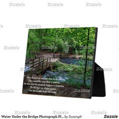 Water Under the Bridge Photograph Plaque