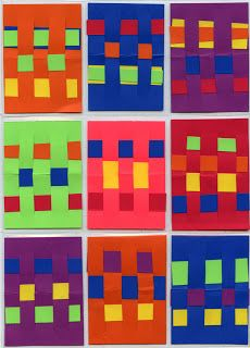Art Projects for Kids: Paper Weaving ATC Cards