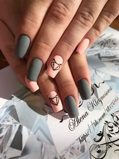 160 summer nail art ideas to give you that invincible shine and confidence Grunge Nails, Swag Nails, Best Acrylic Nails, Acrylic Nail Designs, Stylish Nails, Trendy Nails, Classy Nails, Hot Nails, Pink Nails