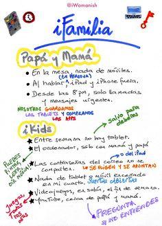 Tecnología en familia: cartel de normas para tod@s http://www.iwomanish.com/tecnologia-en-familia-cartel-de-normas-para-tods/#.Vl7Y3GDldEQ #ePaternidad #digitalparenting #FamiliaDigital