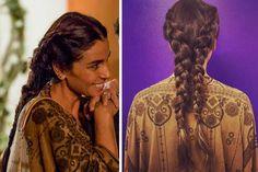 Alice (Giovanna Antonelli) trança dupla, Sol nascente, penteado