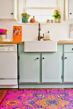gorgeous colorful kitchen makeover on a budget
