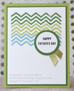 Did You Stamp Today?: Work of Art Father's Day- Stampin' Up Work of Art