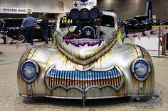 Frank Safanovs Pro Mod unique car. I love the Batman style grill.