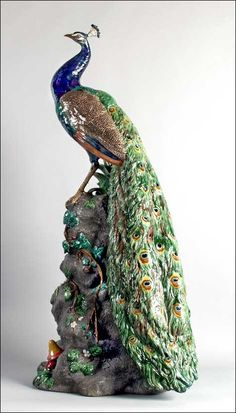 Minton Majolica Peacock. This one looks the same as one that survived the shipwreck of the Loch Ard in 1854. It is in the Flagstaff Hill Museum in Warnambool Victoria, Australia.