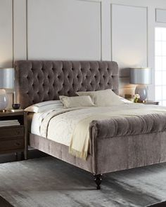 -62BE Old Hickory Tannery  Lourdes Tufted King Bed Lourdes Tufted Queen Bed