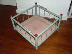 RARE Vintage Amsco Metal Childs Baby Toy Doll Doll-E-Playpen