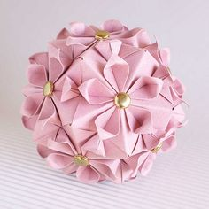 Cherry Blossom kusudama   Name: Cherry Blossom Designer: Tom…   Flickr