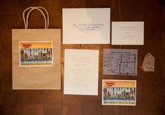 Oklahoma invitation suite. Photo by Candi Coffman Photography. #wedding #invite #oklahoma #postcard