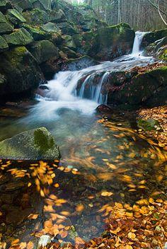 Vodopády Stříbrného potoka - horní vodopád, Rychlebské hory