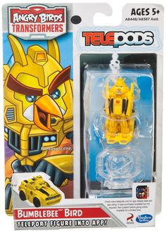 Angry Birds Transformers Bumblebee Bird Figure. Figure converts to vehicle mode and back.