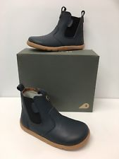 Bobux I-Walk Outback Boots in Navy Leather