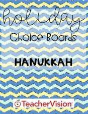 Hanukkah ELA, math, social studies activities for elementary classrooms. This choice board celebrates Hanukkah with a group of activities that can be assigned either as in-class work or a take-home assignment. Activities feature challenging math, language arts, social studies, and social-emotional exercises -- including creating a game, writing a Hanukkah story, building a menorah, and more. #Hanukkah #choiceboard Choice Boards, December Holidays, Social Studies Activities, Mathematics, Language Arts, Hanukkah, Choices, Blues, Classroom