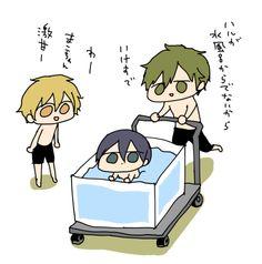 Nagisa, Haru, and Makoto