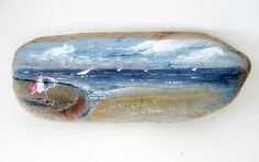 painted driftwood - my mom used to do this, the trick is to find a quirky shape and use your imagination and paint to transform it!