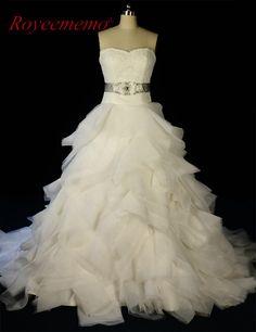 2017 New Design Wedding Dresses vestidos de novia A-line Sweetheart lace  top Organza Bridal a780b0afcd93