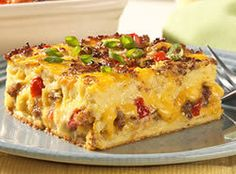 Jimmy Dean Breakfast Casserole - Mom and I made this for a Friday breakfast for her employees, so I didn't get any, but it smelled SO good.