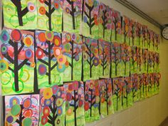Kandinsky tree study- gr.1- paint, printing and collage