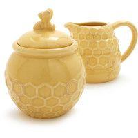 Bee Hive Teapot, Cream & Sugar dishes too!