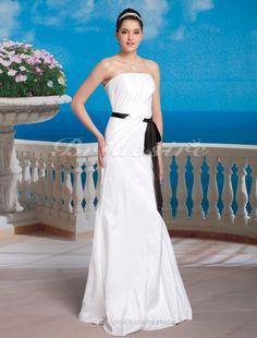 Mermaid/Trumpet Taffeta Floor-length Strapless Wedding Dress - $139.99