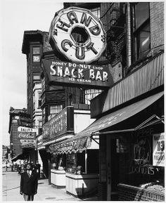 Honey Donut Shop, Neon Signs, Massachusetts Avenue, Cambridge