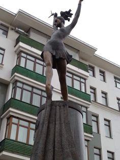 Москва, памятник балерине Майе Плисецкой