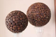"Deko-Kugel ""Kaffee"" 9 cm Kaffee-Kugel von SHL/Style/Home/Living auf DaWanda.com"