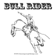 new bull rider color page free printable