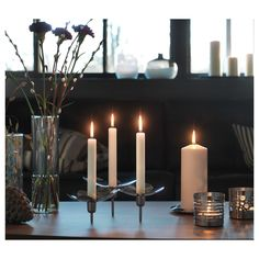 IKEA - STOCKHOLM Candlestick for 3 candles stainless steel