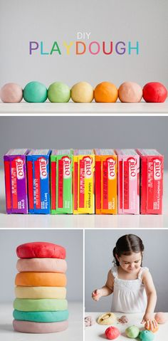 Make your own scented play dough.