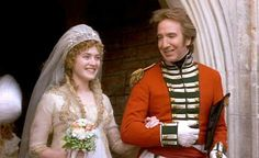 Pin for Later: The Ultimate Movie and TV Weddings Gallery Sense and Sensibility Marianne (Kate Winslet) is not initially pleased with the idea of Colonel Brandon (Alan Rickman), but with time the two fall in love. Alan Rickman, Movie Wedding Dresses, Wedding Movies, Wedding Gowns, Wedding Scene, Wedding Pics, Wedding Bells, Wedding Styles, North And South