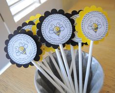 24 Baby Shower Favor Sticker Labels   Mommy To Bee Theme   Bumble Bee Baby  Shower Decorations