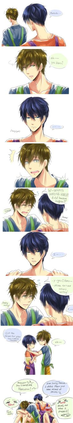Ahaha I really love Makoto <3 He's always so sweet and kind and worrying about his friends :') #Free!