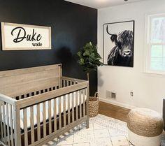 Nursery Decor Boy, Nursery Signs, Boho Nursery, Girl Nursery, Nursery Paint Colors, Wood Wall Nursery, Newborn Nursery, Accent Wall Nursery, Nursery Room Ideas