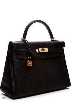 Hermes ● Black Togo Leather Retourne Kelly