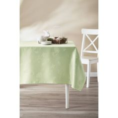 Design Imports Poly Damask Tablecloth   CAMZ32760 | Products, Green And  Damasks