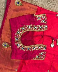 End Customization with Hand Embroidery & beautiful Zardosi Art by Expert & Experienced Artist That reflect in Blouse , Lehenga & Sarees Designer creativity that will sunshine You & your Party. End to Cutwork Blouse Designs, Kids Blouse Designs, Simple Blouse Designs, Stylish Blouse Design, Blouse Neck Designs, Traditional Blouse Designs, Mirror Work Blouse Design, Maggam Work Designs, Designer Blouse Patterns