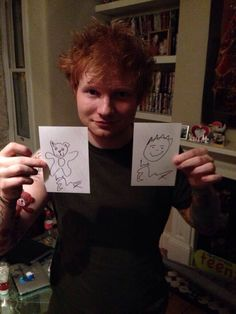 """Hehe Ed's lovely """"artwork"""" xD OH AND HE GOT A NEW TATTOO ON HIS RIGHT ARM <3"""