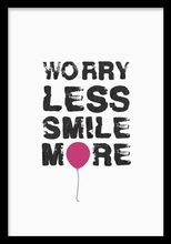 Plakat med fint budskap, Worry less? Gold Poster, Poster Text, Desenio Posters, Buy Posters Online, Day Of The Dead Art, Smile Images, Nordic Interior, Wall Quotes, Positive Thoughts