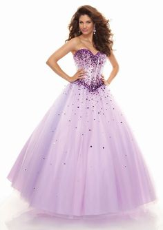 Ball Gown Strapless Sweetheart-neck Floor-length Tulle With Beaded Evening Dresses IDO0362