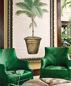 Exotic Living Room by Dorothy Draper & Company and Lanio and Associates Architects, Inc. in U.S Virgin Islands