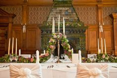 Wedding decoration in an old german castle