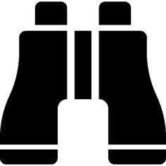 Pair of binoculars silhouette I Free Icon