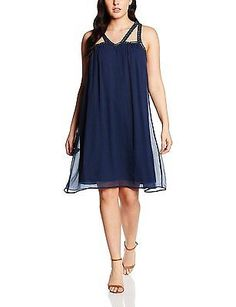14, Navy Blue(Black Iris), Junarose Women's Jrwin Sl above Knee K Dress NEW