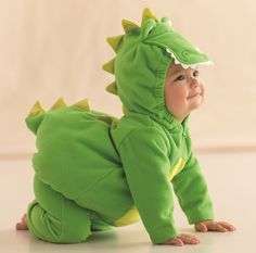 Everyone will be all smiles when they see this cute alligator Halloween costume at the front door.