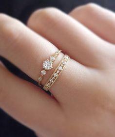 ★★Description★★ Materialien: 14K Gold / 14K Gelbgold (Der innere Ring is...        #engagement #engagementringscanada #engagementringsforwomen #engagementringsgold #engagementringspinterest #engagementringssets #engagementringsstyles #engagementringstiffany #rings